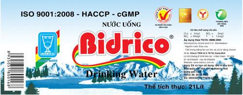 Nhãn nước bidrico cũ nước bidrico - 20150402 bidrico thay doi mau nhan binh nuoc uong loai 20 lit 1 - Nước Bidrico là thương hiệu nước uống đồng hành cùng APEC 2017
