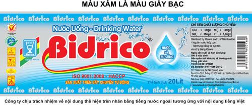 nước bidrico - 20150402 bidrico thay doi mau nhan binh nuoc uong loai 20 lit 2 - Nước Bidrico là thương hiệu nước uống đồng hành cùng APEC 2017