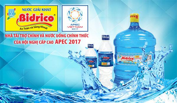 nước bidrico - nuoc bidrico senvietwater 2017 - Nước Bidrico là thương hiệu nước uống đồng hành cùng APEC 2017