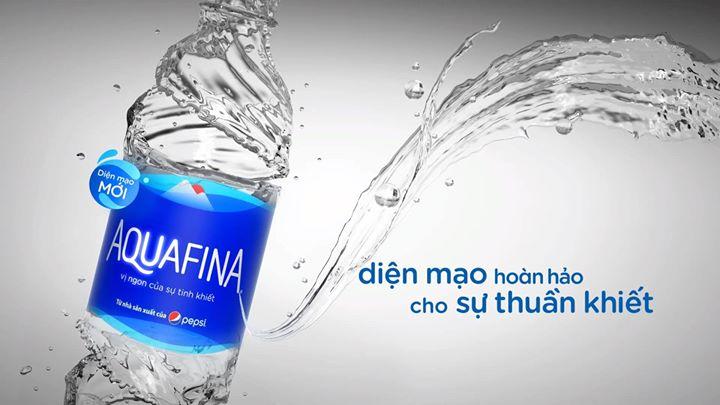 Nước Aquafina - diện mạo mới