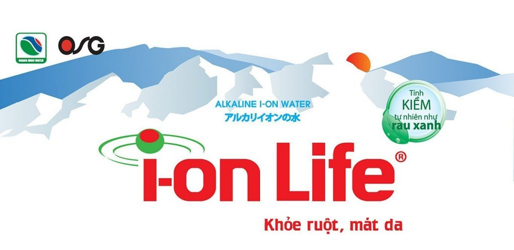 Logo thương hiệu nước ion life