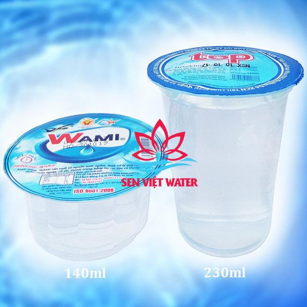 Nước suối ly dung tích 140ml và 230ml