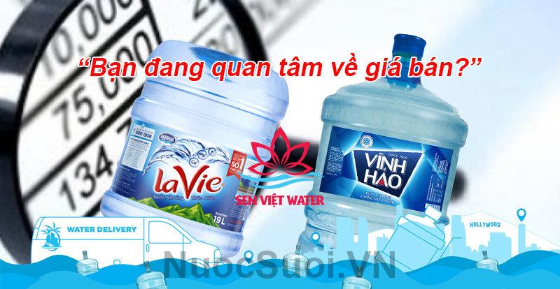 Giá bán nước suối luôn công khai